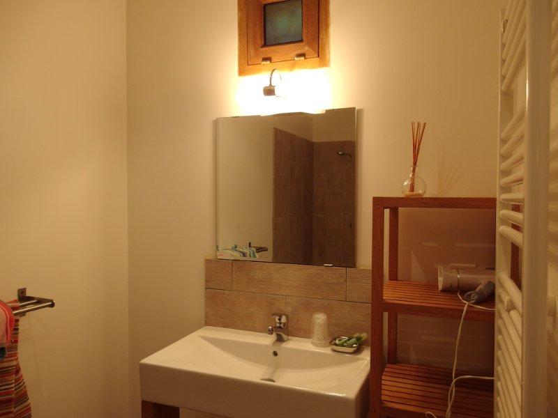 chambre d'hôte casaglione, salle de bain au Ruone